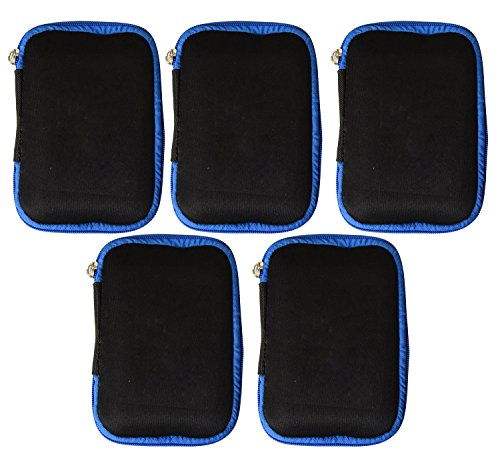 5 Pack Portable EVA Hard Drive Carrying Case Pouch