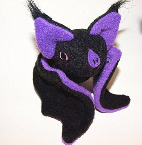 fruit Fruitbat Plushie fruit bat bat kawaii Blackberry bat plush glow-in-the-dark eyes