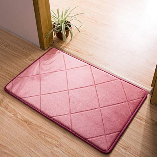 (Dal-Msee Flannel Cut Flower Bath Mat Bathroom Suction Door Mat Long Kitchen Rug Doormat Living Room Floor Mat Carpet)