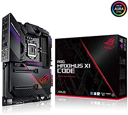 ASUS ROG Maximus XI Code LGA1151 (Intel 8th and 9th Gen) ATX DDR4 HDMI M 2  USB 3 1 Gen2 Z390 Gaming Motherboard
