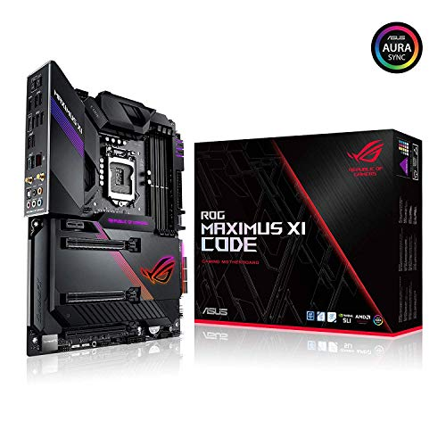 ASUS ROG Maximus XI Code LGA1151 (Intel 8th and 9th Gen) ATX DDR4 HDMI M.2 USB 3.1 Gen2 Z390 Gaming Motherboard