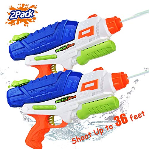 (Water Guns for Kids 2 Pack Water Blaster Super Water Soaker Squirt Guns Trigger Summer Fun Water Blaster Toy for Teens Swimming Pools Party Outdoor Beach Toy Water Fighting for Boys Girls Adults )