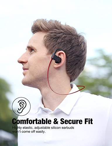 Bluetooth Headphones, Otium Best Wireless Sports Earphones w/Mic IPX7 Waterproof HD Stereo Sweatproof In Ear Earbuds for Gym Running Workout 8 Hour Battery Noise Cancelling Headsets by Otium (Image #6)