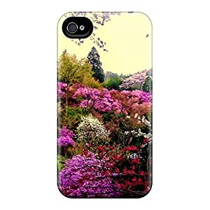 New Premium Saraumes Colorful Blossoms Skin Case Cover Excellent Fitted For Iphone 4/4s