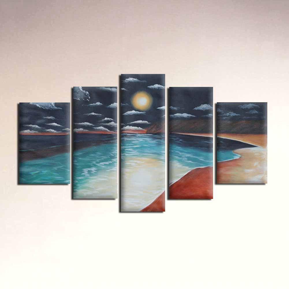 Raybre Art® 100% Pintado a Mano al óleo Cuadros en Lienzo - Natural ...