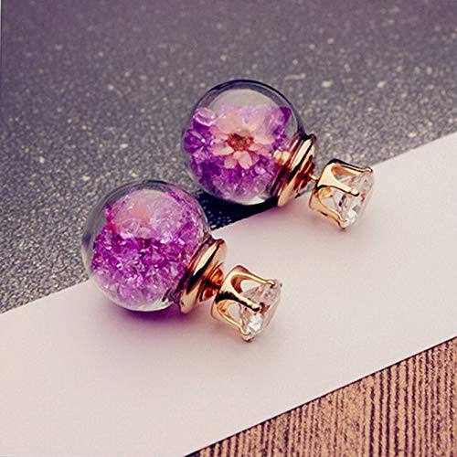 Monowi 1Pair Fashion Women Lady Elegant Flower Rhinestone Glass Ear Stud Earrings | Model ERRNGS - 5324 |