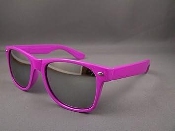 bbf2242f54 Amazon.com   Purple frame mirror lens risky business sunglasses mirrored    Beauty