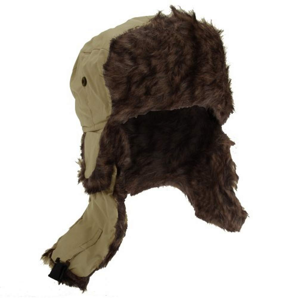 Floso Mens Faux Fur Lined Showerproof Thermal Trapper Hat UTHA248