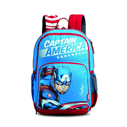 Skybags SB Marvel Champ Cap-AM 01 27 Ltrs Blue Casual Backpack (SBMCCM1EBLU)