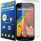 GuarmorShield 2x Motorola Moto G2 G 2 2nd Gen XT1063 XT1064 XT1068 Premium Clear LCD Screen Protector Cover Kit (Package by GUARMOR)