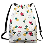 Drawstring Bag for Women Drawstring Hiking Backpack Gym Bag for Women by TOPERIN