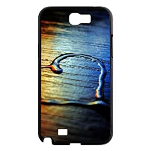 Samsung Galaxy Note 2 Case Colored Heart on Beach, Samsung Galaxy Note 2 Case Heart & Love, [Black]