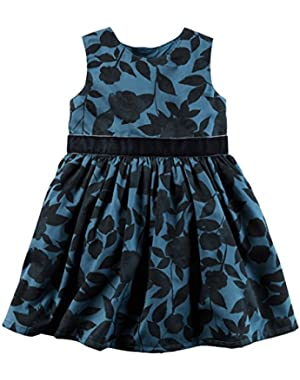 Girls' 2T-8 Floral Dress