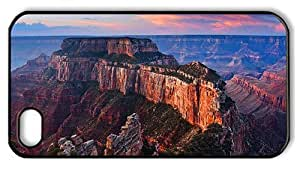 Hipster customize iPhone 4 cover grand canyon view PC Black for Apple iPhone 4/4S