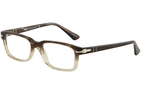 c108dd59ef PERSOL Eyeglasses PO 3130V 1037 Striped Brown Gr Transparent 52MM at ...