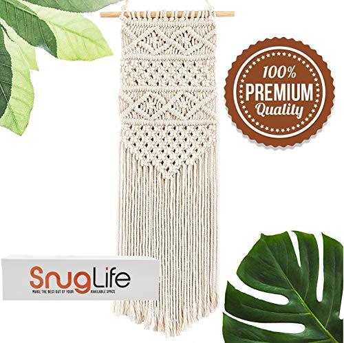 SnugLife Macrame Wall Hanging – Beautiful Boho Decor Handmade Woven Tapestry for Home, Kitchen, Nursery, Bedroom…