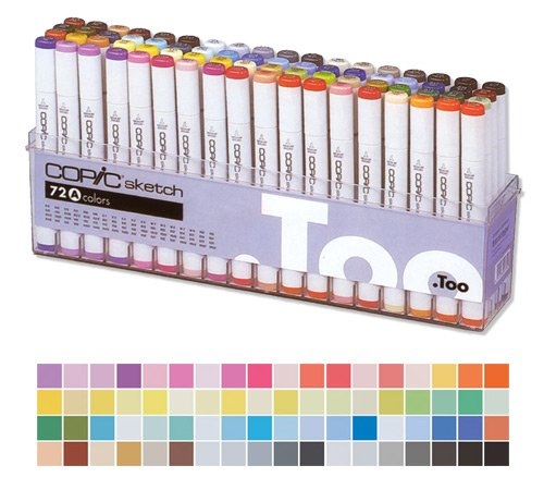 * * Copic Sketch Markers: 72 Color Set A by Copic