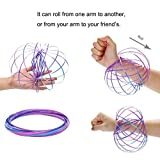 Gaddrt Magic Flow Rings Toy Energy Kinetic Spring Sensory Interactive Novelty Cool Toys (A)