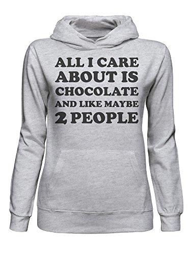 Chocolate People graphke All con Grigio And Is About Care Felpa 2 Donna Like Maybe Cappuccio I da vApwpqX