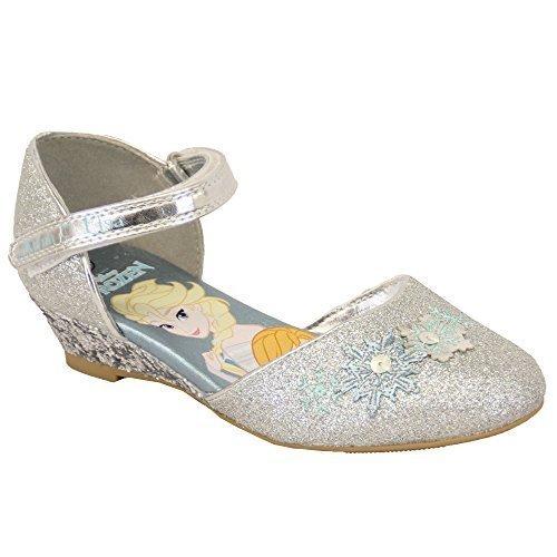 ef9e58811 Sandalias Para Niña Disney Frozen ANNA ELSA Zapatos Purpurina Velcro Copos  de nieve Disfraz - Plateado