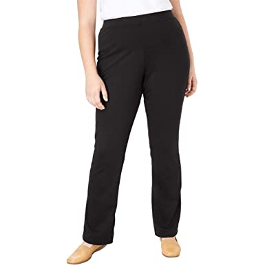 fefdbf694aa Woman Within Plus Size Bootcut Ponte Stretch Knit Pant at Amazon ...