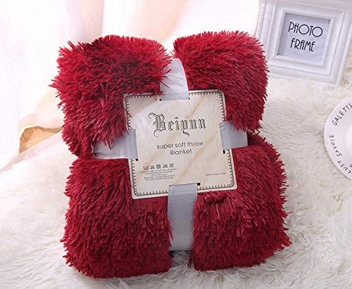 JefreyF Blankets - Fluffy Plush Fleece Blankets for Bed Soft Throw Blanket Air Conditioning Manta Solid Bedspreads Cobertor Girl Wedding 48 1 PCs