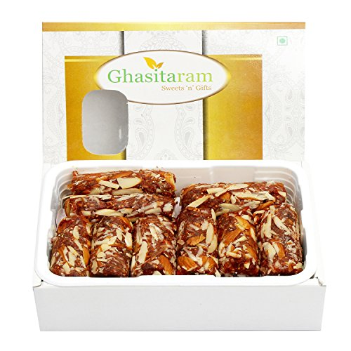 Ghasitaram Gifts Mother's Day Gifts - Sugar Free Anjeer Dryfruit Roll (200 GMS)