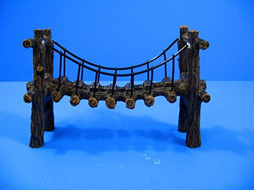 Drawbridge Bridge Aquarium Ornament Resin Decoration M Fish Tank Decor Cave by Aquarium Equip