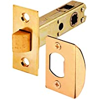 Prime-Line Products E 2281 Passage Door Latch, 9/32 in. & 5/16 in. Square Drive, Steel, Brass Finish