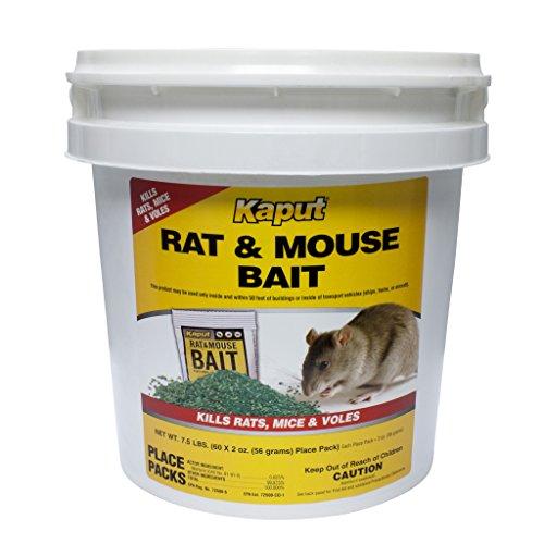 Kaput Rat Mouse Vole Bait - 60 Place Packs 61110 (Best Bait For Voles)