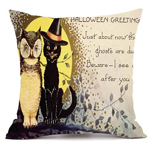 YOcheerful Happy Halloween Throw Pillow Sofa Cushion Cover