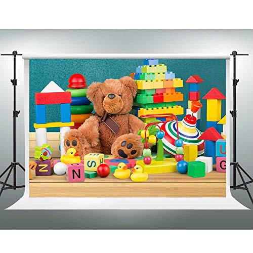 Teddy Bear for Kids, 10x7ft, Children's Educational Toys Background, Kindergarten Admission Party Photography Backdrop for Party LSGE855]()