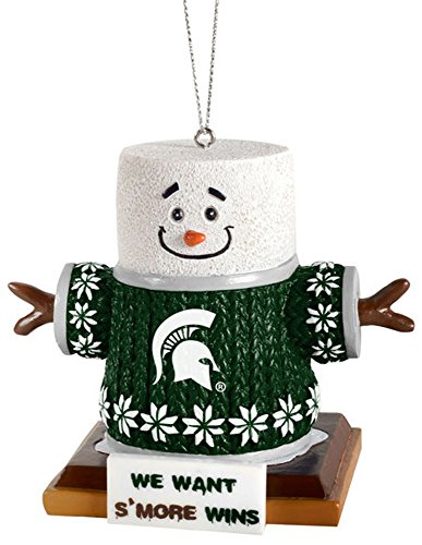 Michigan State Smores Ornament (Christmas Ornaments Michigan State)