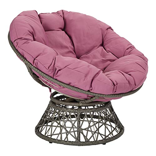 OSP Designs BF25292-512 Papasan Chair, Purple