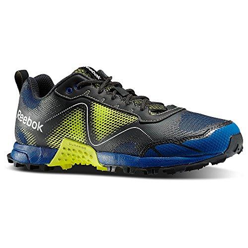Reebok Chaussures de course chaussures de sport Outdoor Wild Extreme Blaze m40554couleur highvis Green/Impact Blue Tapis/grvel/SLV/WHT Homme Taille US 11,5EU 45