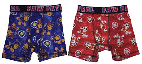 Boys 2 Pack Boxer Brief (Action Underwear 2 Pack Boys Boxer Briefs (Paw Patrol Red, XS))