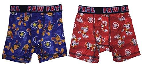 Action Underwear 2 Pack Boys Boxer Briefs (Paw Patrol Red, - Boys Boxer Underwear Briefs 2pk