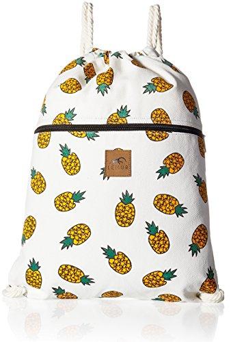 Pocket Drawstring Bag - Lemur Bags Canvas Drawstring Backpack with Front Zipper Pocket - Large 19