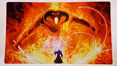 Gandalf vs Balrog lotr Lord of the rings TCG playmat