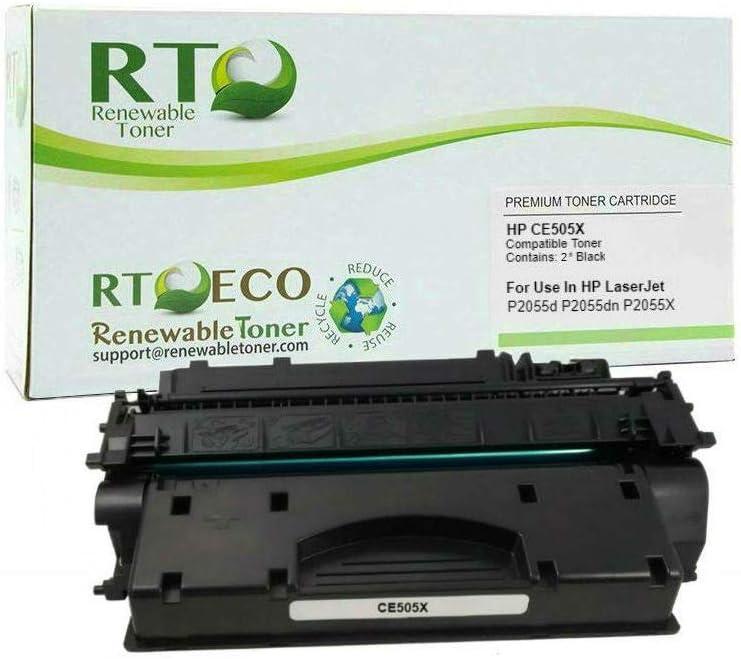 Renewable Toner Compatible High Yield Toner Cartridge Replacement for HP CE505X 05X LaserJet P2055 P2055d P2055dn P2055X
