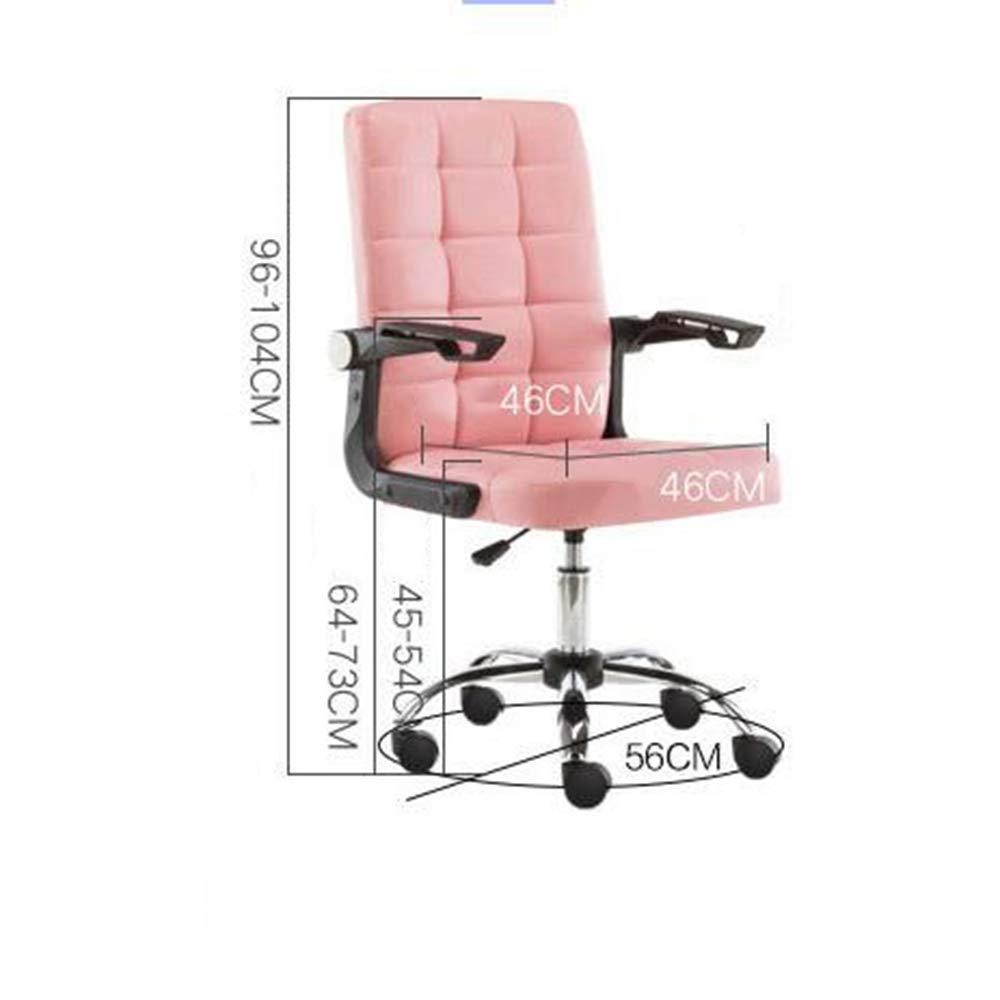 HAIZHEN Stolar soffor pallar kontorsstol, 360° vridbar kontur säte och rygg, justerbara vadderade armar ergonomisk hög rygg stol dator skrivbord stol hem kontor möbler Rosa Rosa