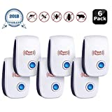 Ultrasonic Pest Repeller 2018 New Electronic Mouse Pest Repellent Plug in Indoor Pest Control Mosquito Repellent for Ant, Rat, Fly, Spider, Rodent, Roach, No Trap, Sprayer,Baits&Poison 6 PACKS