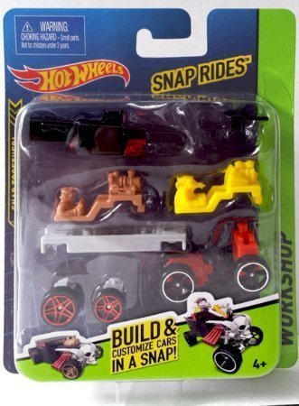Snap Rides Team Hot Wheels Bone Shaker Custom Car Set - Create Build & (Custom Diecast Race Cars)