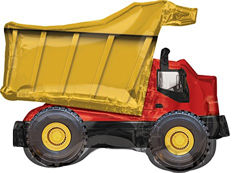 Dump Truck Super Shape Mylar Balloon ()