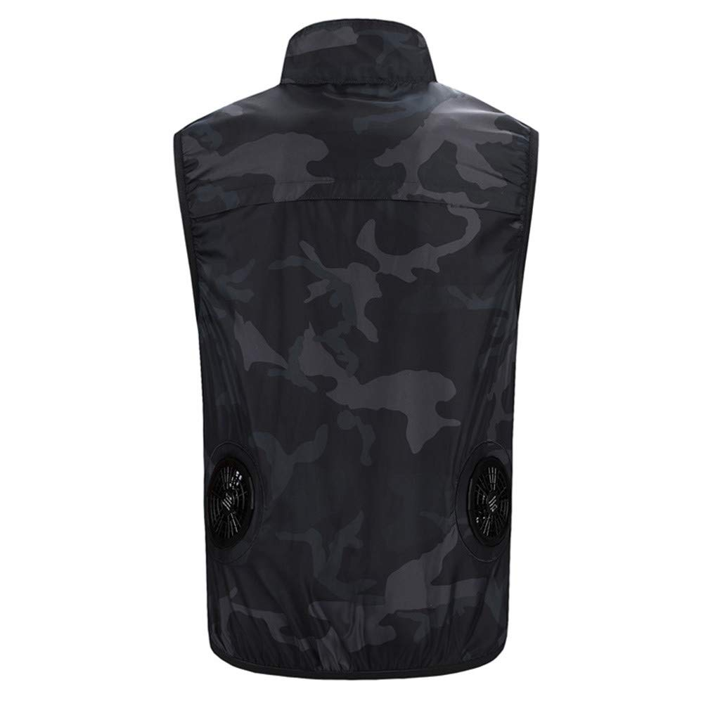 Pafei Men's shirts Workwear Equipped Cooling Vest,Fan with Battery Pack for Summer Air-Conditioned Clothes Unisex for Outdoor