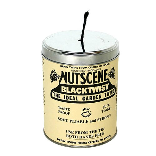 Bosmere K815BL Nutscene Tin of Twine, 3-Ply, 492-Feet, Black by Bosmere
