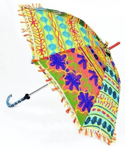 4f1c81c342f7 Amazon.com: MegaCraft Embroidered men's & women's Walking Parasol ...