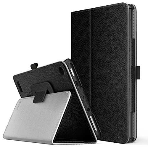 TiMOVO All-New Fire 7 2017 Case (7th Generation, 2017 Release) - Smart Cover Slim Folding Stand Case with Auto Wake/Sleep Function for Amazon Fire 7 Inch Tablet, Black