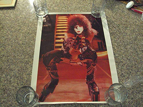 Vintage Kiss Paul Stanley Poster Kiss Alive ll 1977 Unmarked