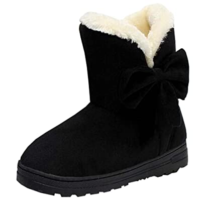 2016 bow flat heel snow boots women warm winter boots cotton boots